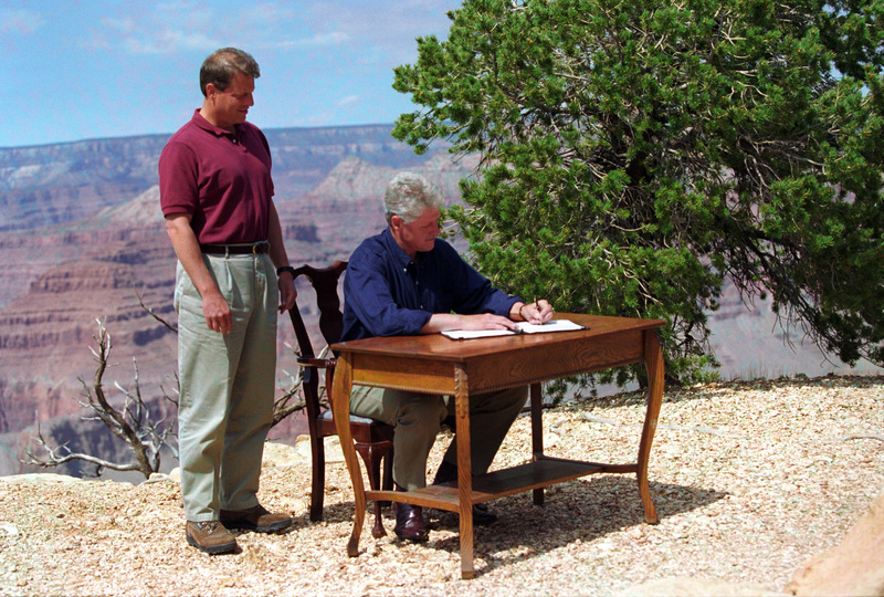 Grand Canyon Proclamation Signing