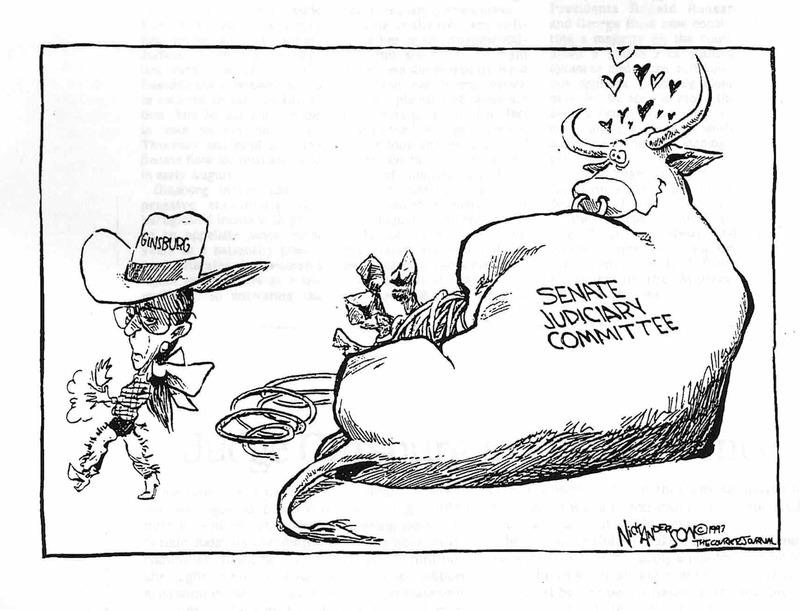 Ruth Bader Ginsburg Judicial Nomination Political Cartoon