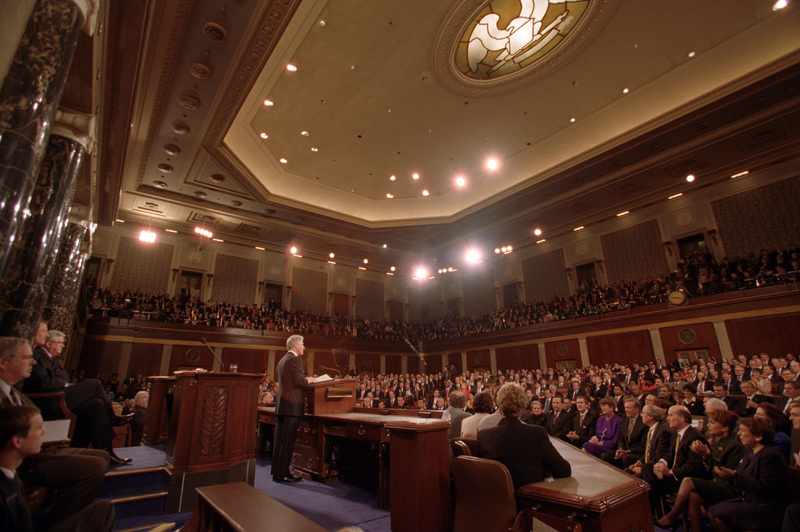 President Clinton delivers his final State of the Union address