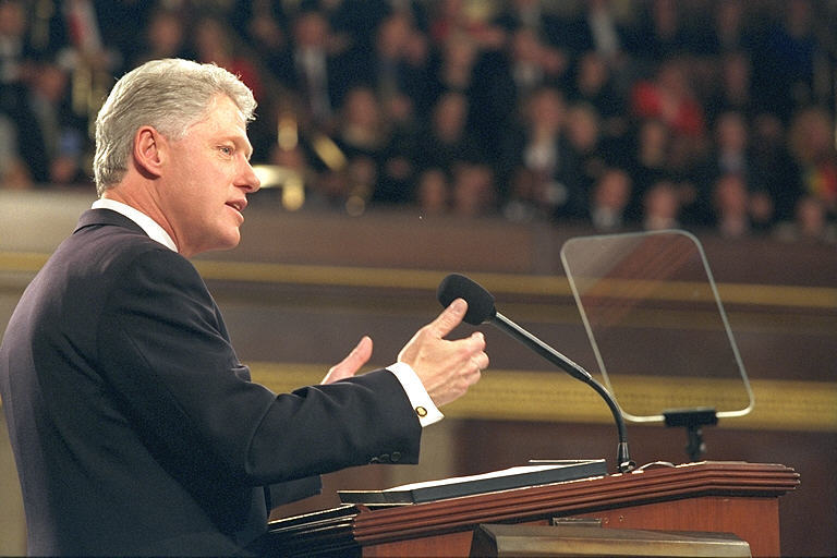 President Clinton delivers the State of the Union Address