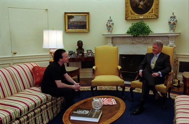 Bono with President Clinton
