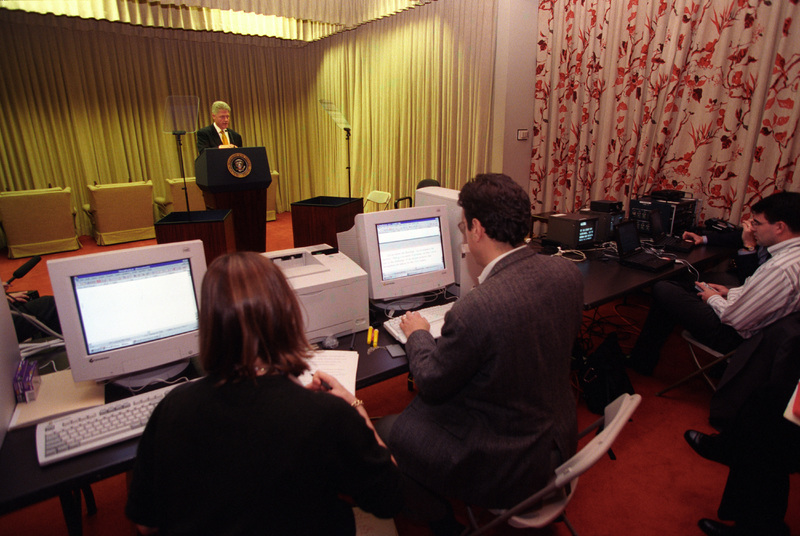 The President and speechwriters prepare for the SOTU
