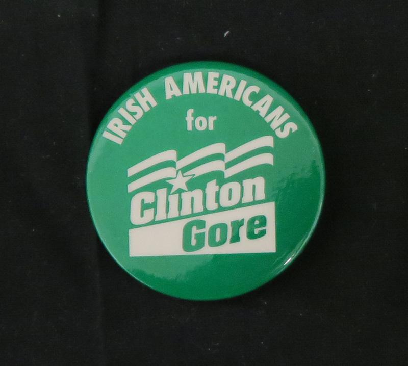 Irish-Americans for Clinton-Gore Campaign Pin