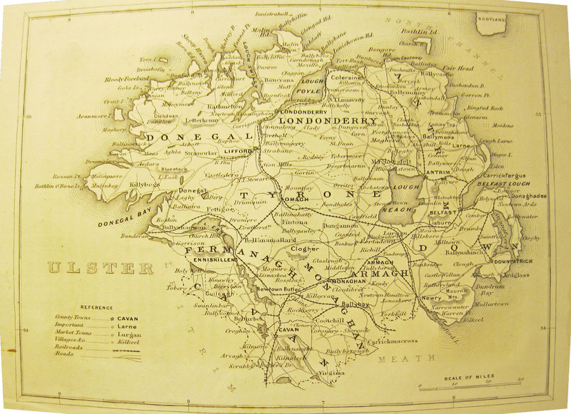 Antique Map of Ulster