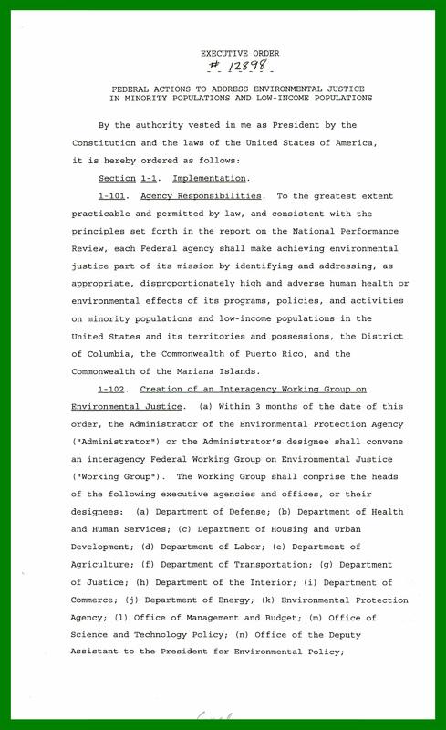 Executive Order 12898