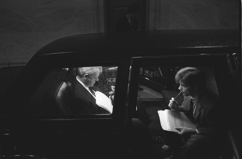 President prepares for 1994 SOTU with George Stephanopoulos