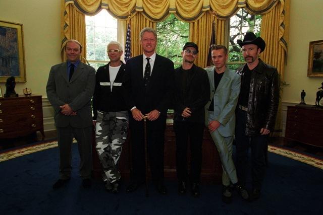 U2 Meeting President Clinton