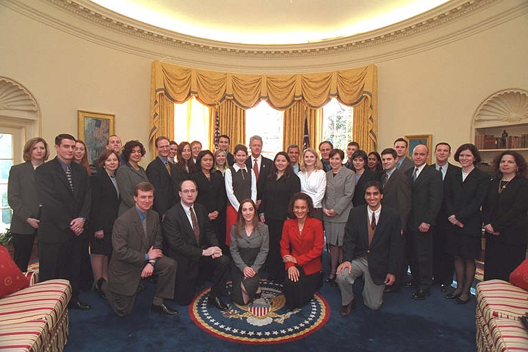 2001 Photo of the Counsel's Office Staff in the Oval Office
