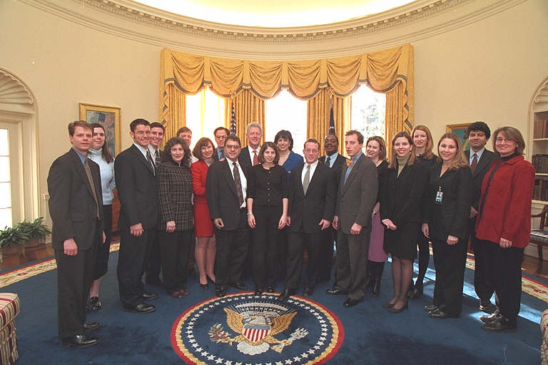 2001 Photo of Communications Staff in Oval Office