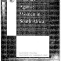 Beijing Follow-Up: Women: Violence Against Women in South Africa [book]