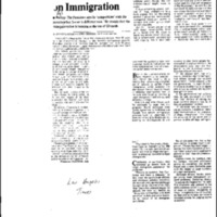 Immigration - Press Guidance