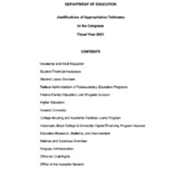 Department of Education Fiscal Year 2001 Volume II [publication] [1]