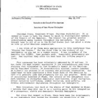 Secretary W. Christopher - Mideast Policy, 1993-94