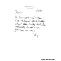 Meeting w/Watson Bell Re: Organ Transplants 19 Jan. 1995 12:30 - 1:00pm