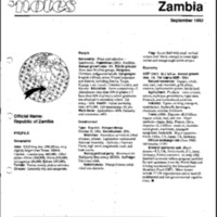 Zambia - Background