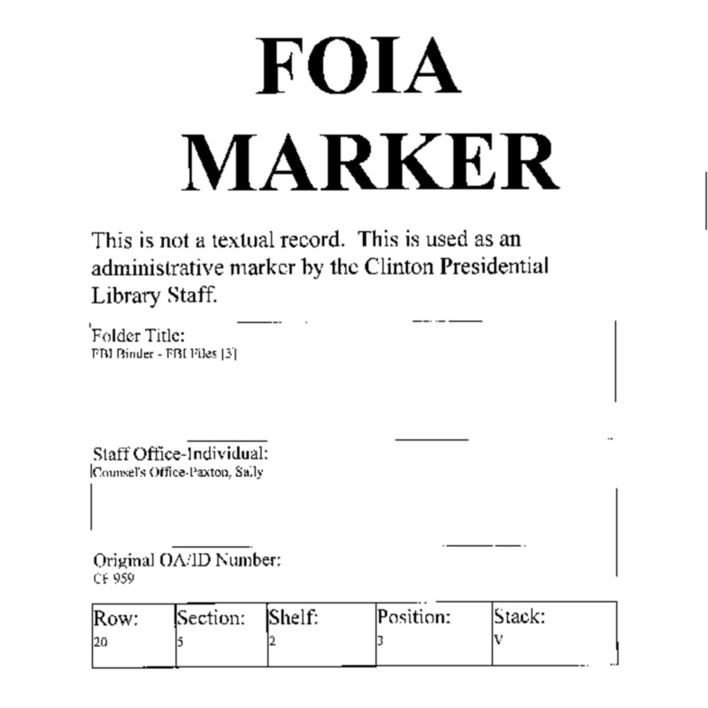 FBI Binder – FBI Files [3]