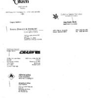 Claybrook Meeting Public Citizen DPC: M. Schmidt NEC: M. Deich 14 Sept. 1994 2:00 - 2:30