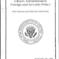 Clinton Administration Foreign and Security Policy [booklet]