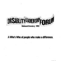 National Easter Seals Society University of Minnesota Disability Leadership Forum September 23-24, 1995 Minneapolis, MN [4]