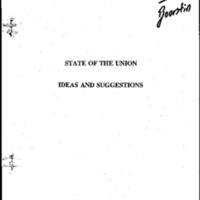1994 - State of the Union - Ideas & Suggestions