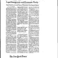 Immigration (Portland State 6/98) Immigration and Economics
