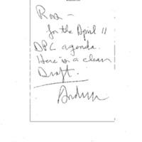 DPC Meeting (Roosevelt Room) 4-11-94 5:30-6:30 pm