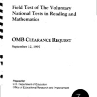 National Test – Field Test - Specifications [2]