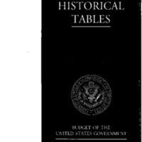 Budget of the United States Government Fiscal Year 2001 - Historical Tables [publication]