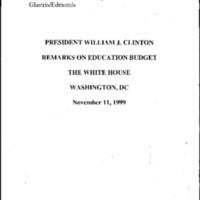 Education Budget 11/11/99