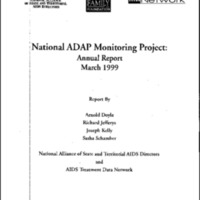 National ADAP [AIDS Drug Assistance Program] Monitoring Project-Annual Report March 1999 [Bound Material]