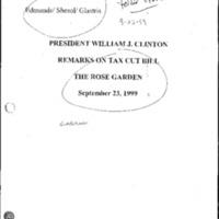 Tax Cut Bill 10/23/99