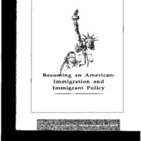 Becoming an American - Immigration and Immigrant Policy [publication]