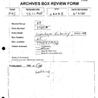 Box-Review Forms, History Associates [3]
