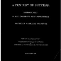 [1995-1996 Annual Report – The Presidents Board of Advisors on Historically Black Colleges and Universities]