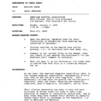 HC Meeting: AHA (EOB 472) 9 Jan. 1995 1:00 - 2:00pm