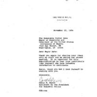 Mayor Ashe Meeting 7 Oct. 1994 11:00 - 12:00