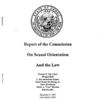 Same Sex Marriage: Report of the Commission on Sexual Orientation and the Law [Folder 2] [1]