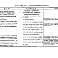 ESEA [Elementary and Secondary Education Act] (House and Senate Bills) [4]