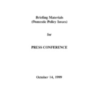 417069 [Briefing Materials, Domestic Policy]
