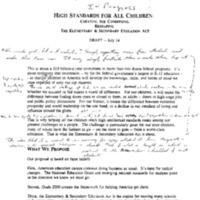 ESEA [Elementary and Secondary Education Act] – August 1993 Drafts [Folder 2] [1]