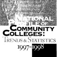 National Profile of Community Colleges - Trends and Statistics 1997-1998 [publication]