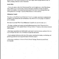 Hillary Rodham Clinton-Office of the First Lady Mission Statement
