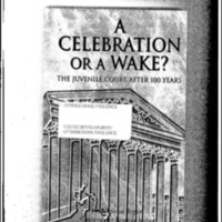 Youth Development/Afterschool/Violence-A Celebration or A Wake?  The Juvenile Court After 100 Years [Bound Material]