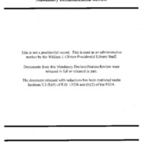 Declassified Documents Concerning Usama bin Ladin