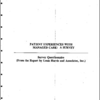 The Commonwealth Fund - Managed Care - The Patient's Perspective-July 1995 [2]