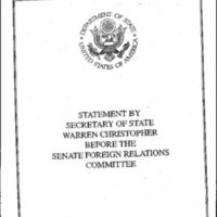 Secretary W. Christopher - House & Senate, 1995