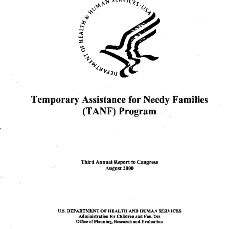 TANF [Temporary Assistance for Needy Families] Second Annual Report to Congress