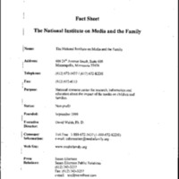 National Institute on Media and the Family