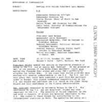245 Memcon President Lech Walesa of Poland Oct 22 1994.pdf