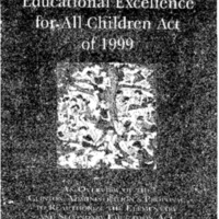 Educational Excellence for All Children Act of 1999 [publication]
